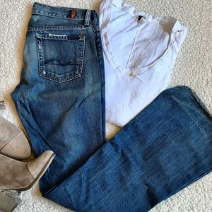 7 for all Mankind - Flared Blue Jeans